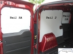Doblo Combo L1 Seitenverkleidung Tür hinten links Fensterfeld T5A