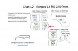 Citan L2 - Kangoo L1 Seitenverkleidung Tür rechts unten T4