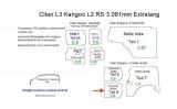 Citan L3 - Kangoo L2 Seitenverkleidung Schiebetür unten T8