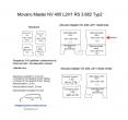 Movano Master NV 400 L2/H1 Laderaumverkleidung Seite vorne links oben Teil 1B
