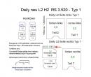 Daily L2/H2 Laderaumverkleidung Schiebetür rechts ganz oben Teil 8B